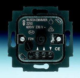 busch jaeger drehdimmer dimmer 2250u einsatz 60 600 w unterputz ebay. Black Bedroom Furniture Sets. Home Design Ideas