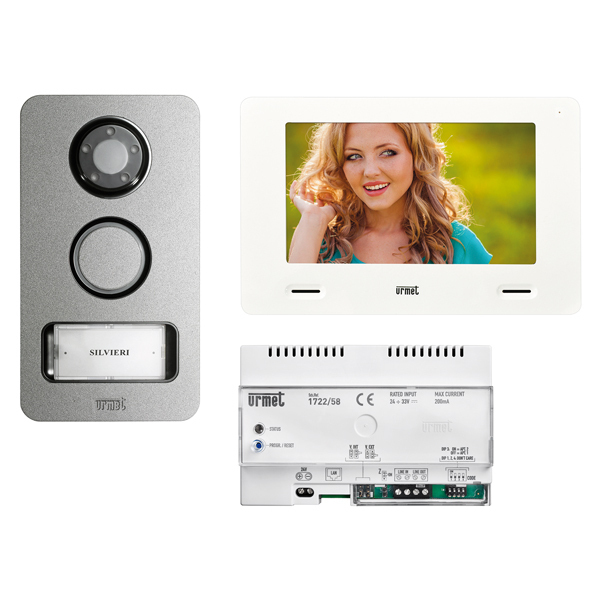 grothe t rsprechanlage 1 wohneinheit video sprechanlage set 1722 81 urmet 74576. Black Bedroom Furniture Sets. Home Design Ideas