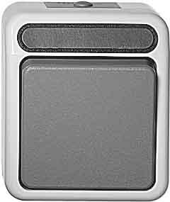 merten lichtschalter wechselschalter aquastar aufputz grau 340639 schutzart ip44 ebay. Black Bedroom Furniture Sets. Home Design Ideas