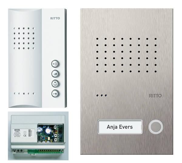 ritto t rsprechanlage sprechanlage acero 1 wohneinheit freisprechen audio 2draht ebay. Black Bedroom Furniture Sets. Home Design Ideas